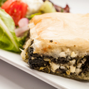 Spanakopita and Greek Salad Perfect Pairing